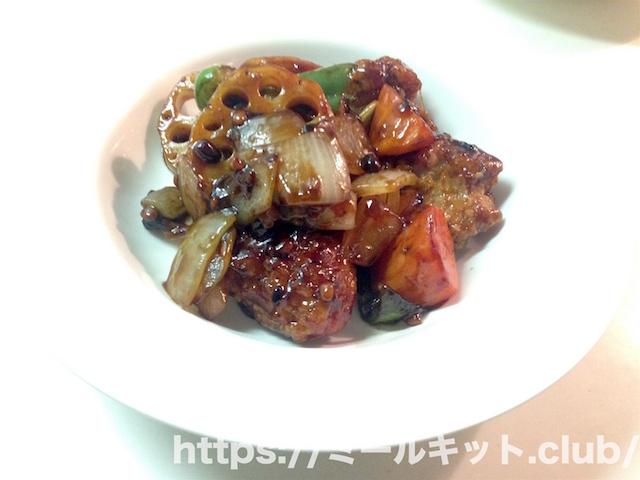 NL鶏竜田と野菜の雑穀入り黒酢あんかけ【キッチントのメニュー】