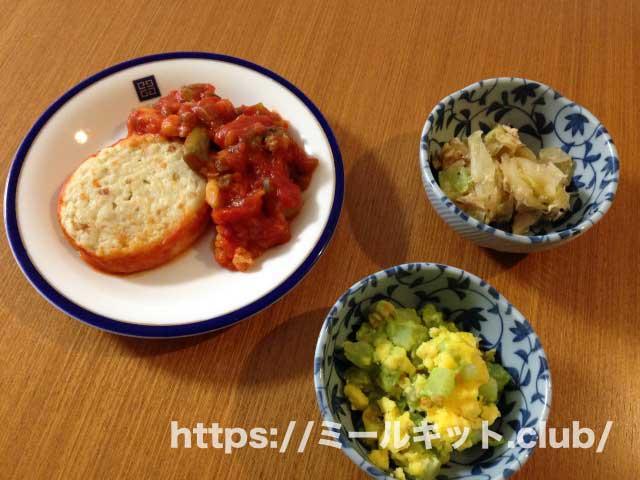 健康三彩 豆腐ハンバーグ