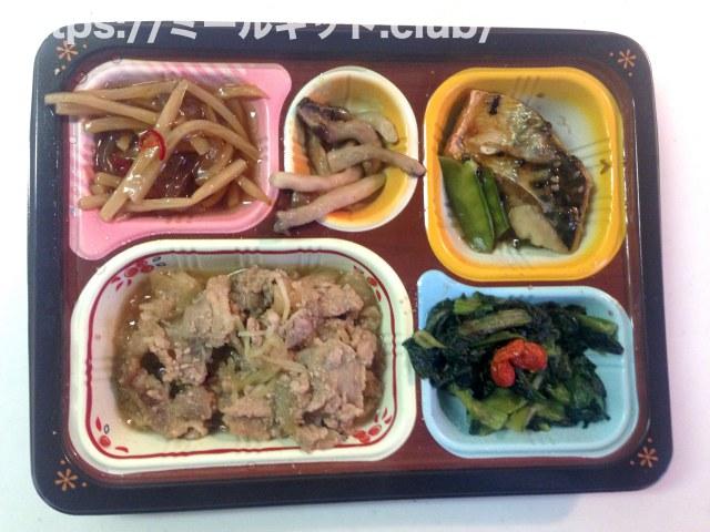 豚肉の生姜煮と鯖(サバ)胡麻だれ弁当【食宅便の実食レポ!】