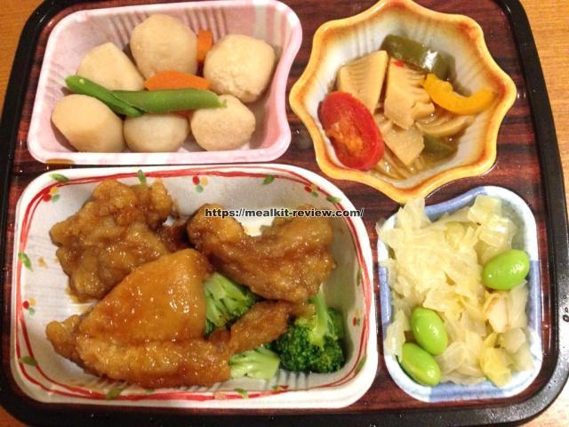 鶏の唐揚げ甘酢ソースセットを食べてみた【ベルーナグルメの口コミ・実食レポ!】
