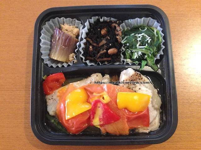豚肉と小松菜のトマト炒め弁当を食べてみた【ナッシュの口コミ・実食レポ!】