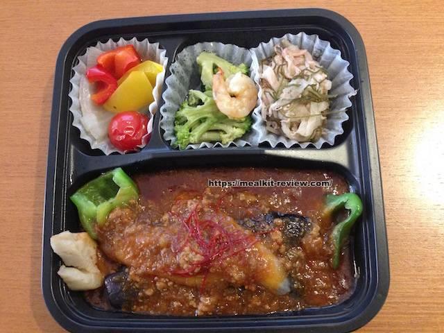 ごろっと野菜の麻婆茄子弁当を食べてみた【ナッシュの口コミ・実食レポ!】