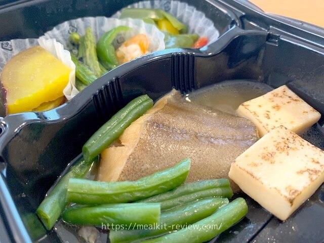 カレイの煮付け弁当を食べてみた!【noshの魚料理メニューの口コミ】