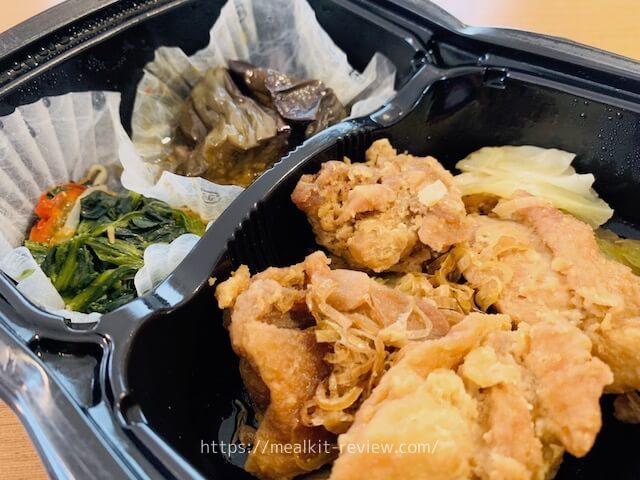 おからで揚げたふわふわ油淋鶏弁当を食べてみた【ナッシュの口コミ・実食レポ!】