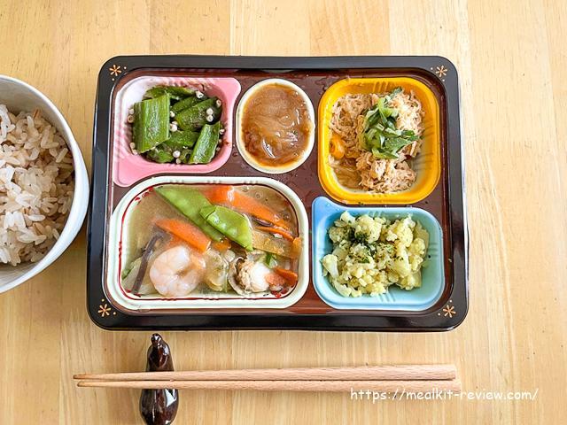 食宅便の海鮮八宝菜弁当